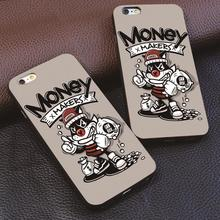 money makers Cute cartoon For iphone 4 4s 5 5s 6 6s 7 plus for Samsung s3 s4 s5 s6 s7 Edge luxury Hard plastic phone case(China)