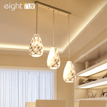 Nordic LED restaurant fixtures bar hanging lights American rural style dining room lamps modern simple Pendant Lights(China)