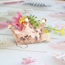 New Design Shiny Rhinestone Sequin Crown hairpins Girls Tiaras Hair Accessories 45*35mm Children Accessories Baby Hair Clip