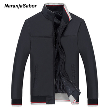 NaranjaSabor 2017 Spring Men's Jackets Men Casual Coats Men's Slim Windbreaker Brand Clothing Male Baseball Coats Outwear 5XL(China)