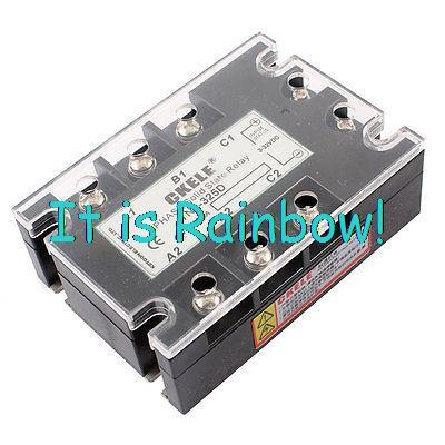 Free Shipping TN1-325D 6 Terminals 3Pole Solid State Relay DC 3-32V /AC 480V 25A<br><br>Aliexpress
