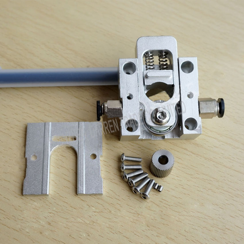 1Set DIY Reprap Bulldog All-metal Extruder For 1.75 3mm Compatible with E3D J-head MK8 Remotely Proximity For 3D printer parts1S<br>
