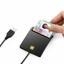 Zoweetek 12026-1 EMV USB Smart Card Reader DOD Military USB Common Access CAC Smart Card Reader For SIM /ATM/IC/ID Car1(China)