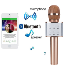 Bluetooth Karaoke Wireless Microphone Professional portable speaker player super bass For KTV For Iphone Android High quality