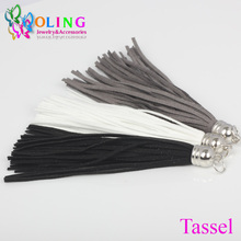 2017 new 10CM hot Suede Tassel For Keychain Cellphone Straps Jewelry making Charms,Gradient color series With DIY Accessories