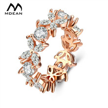 Buy MDEAN Rose Gold Color Rings Women Bijoux Ring Fashion AAA Zircon Jewelry Bague Women Rings Accessories Size 6 7 8 MSR804 for $2.99 in AliExpress store