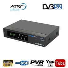 Freesat v7  ATSC Combo Support HD AC3 Audio CONVERTOR TV BOX+Full 1080P Digital DVB-S2 Satellite Receiver With IKS Youtube CCCAM