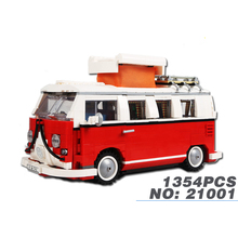 Classic creator car-styling Micro bus Volkswagen T1 MPV Camper Van building block model brick 10220 toy collection for kids gift