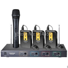 Takstar TC-4R VHF Wireless Microphone 3 Body-pack mic+1 Handheld mic  for Broadcasting, program hosting, outdoor activities