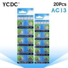 YCDC 20x1.5V AG13 Battery LR44 L1154 RW82 RW42 SR1154 SP76 A76 357A ag13 pila lr44 SR44 AG 13 Alkaline Button Cell Coin Battery(China)