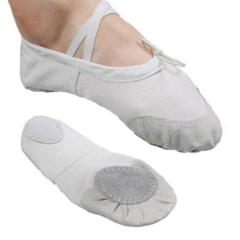 Ballet Slippers For Girls Classic Split-Sole Canvas Dance Gymnastics Baby Yoga Shoes Flats Kids Dance shoe Women Ballerina(China)