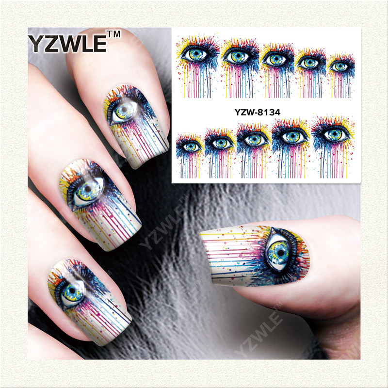 YZWLE  1 Sheet DIY Designer Water Transfer Nails Art Sticker / Nail Water Decals / Nail Stickers Accessories (YZW-8134)<br><br>Aliexpress