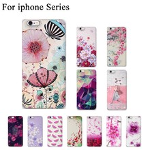 Newest Candy Slim Soft TPU Phone Cases For Apple iphone 6 Case New 3D Flower Case For iphone 5s 5 SE 6 6s 8 6/7/8 plus Cover Bag
