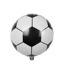 10Pcs Cute football balloon foil ballon 18inch metallic balloon for balloon decoration kids birthday party decorations ballon