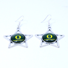 Earrings NCAA Oregon Ducks Charms Dangle Earrings Sport Earrings Football Jewelry for Women Birthday Party Gift 5 pairs(China)