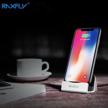 RAXFLY Phone Holder For iPhone 6 6s Plus 7 7 Plus 5 5s SE Sync Charger Dock Charging Desktop Stand Station Adapter For iPad