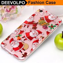 DEEVOLPO Merry Christmas Gift Case For Apple iphone X 7 8 6 6S Plus 5 5s SE ipod touch 6 Santa Claus Xmas Silicone Cover DP01H(China)