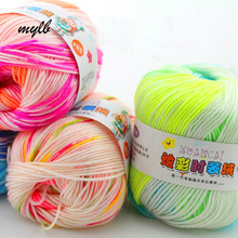 mylb 10 Balls=500g  Colorful Fashion Cashmere Line Jacquard Section Dye Line Fancy Children 's Wool Barbie Yarn For Knitting