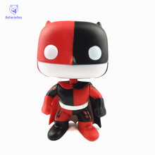 NEW 10cm Super heroes batman harley quinn action figure Bobble Head Q Edition new box for Car Decoration