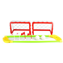Mini Hockey Goal Set 2 Nets 2 Sticks 2 Balls Children Indoor Outdoor Game Best Toy Sports Best Gift for Kid's Exploring Ability(China)
