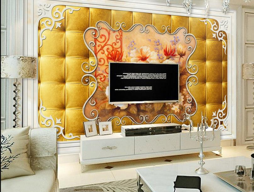 customized 3d wallpaper Gold soft package still life oil painting TV backdro 3d wallpapers for living room wall mural wallpaper<br><br>Aliexpress