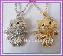 Hello kitty pendent necklace/lovely cat pendent necklace/anmal pendent necklace(China)