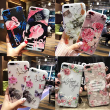 Flower Flamingo Patterned Phone Case For iPhone On X 10 5 5S SE 8 7 6 6s s Plus Soft Slim TPU Cover Capinhas Silicone Back Shell(China)