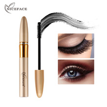 2 Pcs/set Black 3D Thick Fiber Mascara Waterproof Lengthening Curling Mascara Eyelash Enhance Volume Express Cosmetic Makeup Kit(China)