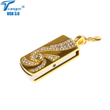 Trangee USB Flash Drive Golden Pendrive USB 3.0 8GB 16GB 32GB 64GB Pen Drive USB Flash Disk Jewelry Fashion Gifts(China)