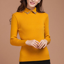 winter sweater women turtlenecks pullover female slim knitted sweaters womens jumpers fashion 2015 autumn pull femme hiver(China)
