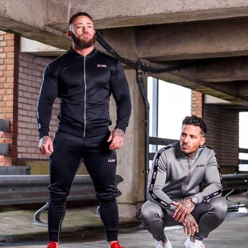 Men Set Casual Sportswear Suit-1
