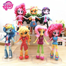 7pcs/Set 14cm Hasbro My Little Pony Toys Friendship Is Magic Pony PVC Action Figures Set Collectible Model Doll Dolls For Kids(China)