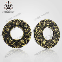 2016 stainless steel silver ears plug tunnel piercing body jewelry stretchers sell by pair 8mm to 20mm