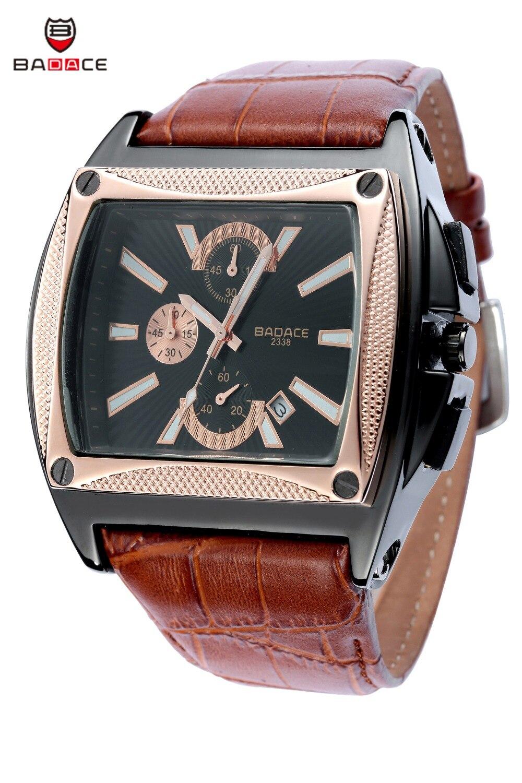 Mens Watches Top Brand Luxury Badace Men Military Sport Luminous Wristwatch Chronograph Leather Quartz Watch Relogio Masculino<br>
