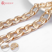 Buy , 298711 Meter Champagne gold Color Plated Flat Extended Chains Aluminum Chains Necklace Chains Diy Jewelry Findings Accessories for $2.46 in AliExpress store