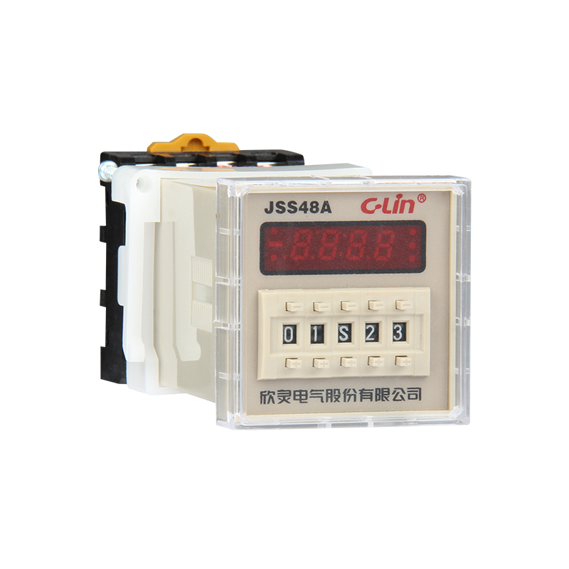 JSS48A Number Show Time Relay Two Group Electricity Time Delay Suspend Zero 11 Only Foot AC220V<br>