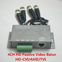 4CH  Passive UTP Video Balun for HD  cctv camera system