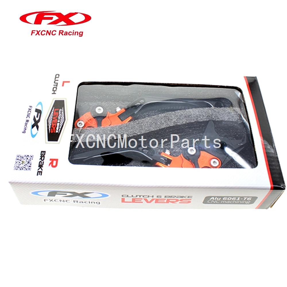 For KTM ADVENTURE 1050 2016 Motorcycle Adjustable Folding Extendable Brake Clutch Levers Orange &amp; Black With Package<br>