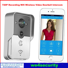 720P WI-FI video intercom system,Wifi Video Door Bell Door Phone Wireless IOS Android App