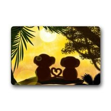 "Custom Sunset Jungle Forest Love Monkey Machine-washable Door Mat Indoor/Outdoor Doormat 23.6""(L) x 15.7""(W)(China)"