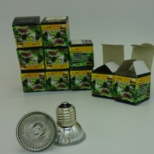 10PCs/ lot UVA + UVB Sunning Heat Lamp 25~75 Watt Bulb, emits a broad-spectrum light, Provided Basking Lamp Reptiles, Amphibians