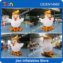 Buy 4m high usa gold Donald Trump rooster cock inflatable / inflatable Trump rooster cock Chicken inflatable cartoon for $250.00 in AliExpress store