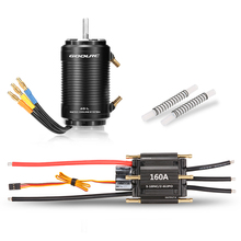 GOOLRC 160A Brushless ESC and 4092 1250KV Motor with 40-L Water Cooling Jacket Combo for 1000mm or Above RC Boat Speedboat Model