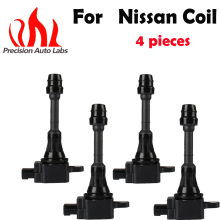 4 Ignition Coil for Nissan Sentra X-Trail T30 Primera Altima 4 Cyl 2.0L 2.5L QR20DE QR25DE 2001-2013 224488H300 224488H310 UF350