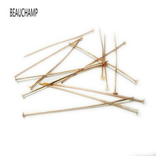 BEAUCHAMP 20-60mm Flat Head Pins Eye Pin Jewelry Making Stud Needles Earrings Crimps Choker Clasp Hook Bracelet Connctor Kit(China)