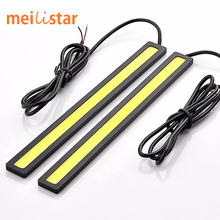 Car styling 1pcs Ultra Bright 12V Daytime Running Lights 17cm Length Daylight COB Car LED DRL Day time lamp Waterproof white