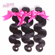 ISEE Hair Products 8A Brazilian Body Wave 3Bundles Human Hair Weave Bundles Brazilian Virgin Hair Body Wave Human Hair Extension