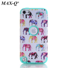 MAX-Q For Apple iPod Touch 5 5th Generation Case pattern Cases Rubber Silicone + PC Hybrid Case Covers Fundas touch5
