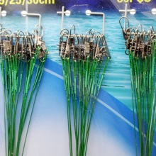 60Pcs/lot Wholesale Sea Fishing Leader Wire Assortment Sleeve and Stainless Steel Rolling Swivels 30cm