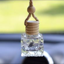 7ml Crystal Clear Empty Glass Bottles Car Perfume Pendant NEw Style Parfume Essential Oil Packaging Containers Free Shipping